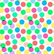 Seamless confetti pattern in candy colors — Stock Vector