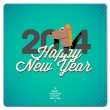 Happy New Year card, 2014 — Stock Vector