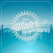 Big winter sale poster — Stock Vector