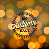 Autumn Sale poster bokeh background — Stock Vector
