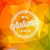 Autumn Sale poster polygonal background — Stock Vector