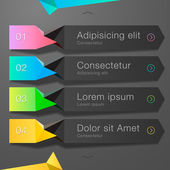 Modern spiral infographics options banner — Stock Vector
