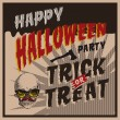 Stock Vector: Halloween Party design template for card-poster-flyer