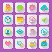 Set icone web, flat tendenza del design dell'interfaccia utente — Vettoriale Stock
