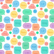 Seamless pattern speech bubbles social network — Stock Vector