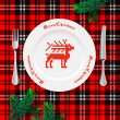 Table setting for Christmas dinner — Imagens vectoriais em stock