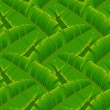 Tropical banana leaves seamless pattern — Stock Vector