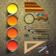 Group art supplies — Image vectorielle