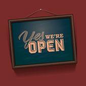 Somos signo abierto — Vector de stock