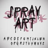 Graffiti splash alphabet — Stock Vector