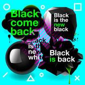 Black speech bubbles set — Vector de stock