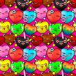 Colorful cute cartoon seamless pattern — Vettoriali Stock