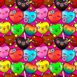 Colorful cute cartoon seamless pattern — Stok Vektör