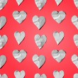 Paper hearts - seamless art craft pattern — Stock Vector