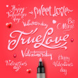 Set Of Happy Valentine's Day Hand Lettering — Stock Vector #38445817