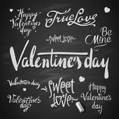 Set Of Happy Valentine's Day Hand Lettering — Stock Vector