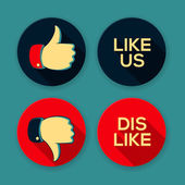 Like us and Dislike symbols — Stockvector
