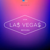 World Cities labels - Las Vegas. — Stock Vector