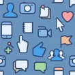 Seamless pattern with social media icons — Stock Vector