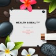 Health and beauty template — Stock Vector