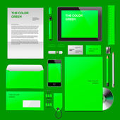 Green Corporate ID mockup — Stock Vector