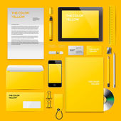 Yellow Corporate ID mockup — Stock Vector