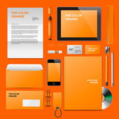 Orange Corporate ID mockup — Stock Vector