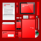 Red Corporate ID mockup — Stock Vector