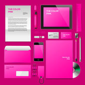 Pink Corporate ID mockup — Stock Vector