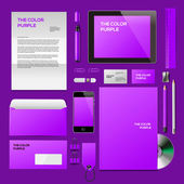 Purple Corporate ID mockup — Stock Vector