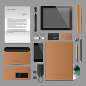 Corporate identity mock-up classic style — Stock Vector