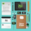 plantillas de identidad corporativa — Vector de stock
