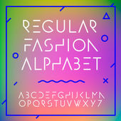 Fashion alphabet letters collection — Stock Vector