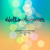 Hallo Sommer, Sommer verschwommen Hintergrund — Stockvektor