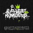 Graffiti alphabet and numbers — Stock Vector #47105561