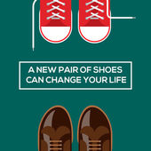 New pair of shoes can change your life — Stock Vector