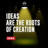 Idea concept. Ideas are the roots of creation. — Stock Vector