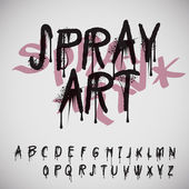 Graffiti splash alphabet — Vetorial Stock