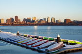 The impressive Boston City Skyline — Stock Photo