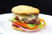 Healthy Hamburger — Stock Photo