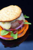 Healthy Hamburger — Stock Photo