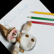 Stock Photo: Children's letter Dear SantClaus