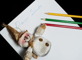 Children's letter Dear Santa Claus — Stock Photo