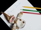 Children's letter Dear Santa Claus — Stock Photo