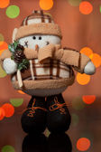 Snowman - a Christmas toy — Stock Photo