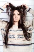 Garota desleixada — Foto Stock