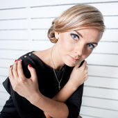 Close-up of a young woman — Stock Photo