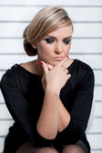 Young woman pondering work — Stock Photo