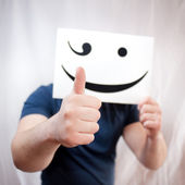 Man showing thumbs up — Stock Photo