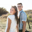 Young couple in love walking — Stock Photo